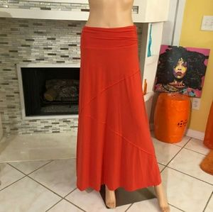 Joe B long Orange skirt size medium